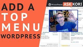 Add a Top Menu in WordPress