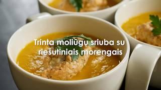 Kreminė moliūgų sriuba su riešutiniais morengais