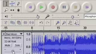Adjusting volume in Audacity