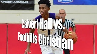 Calvert Hall vs. Foothills Christian, Under Armour Holiday Classic 1st Round, 12/27/16