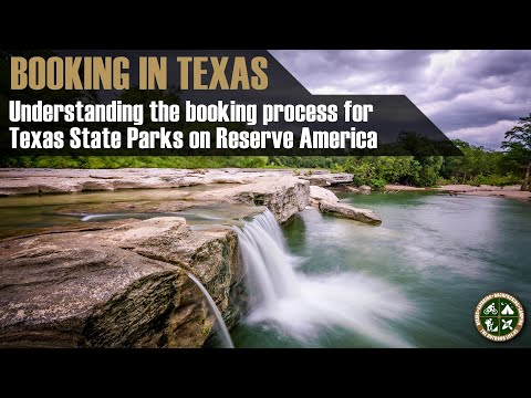 Booking a Texas Campsite on Reserve America
