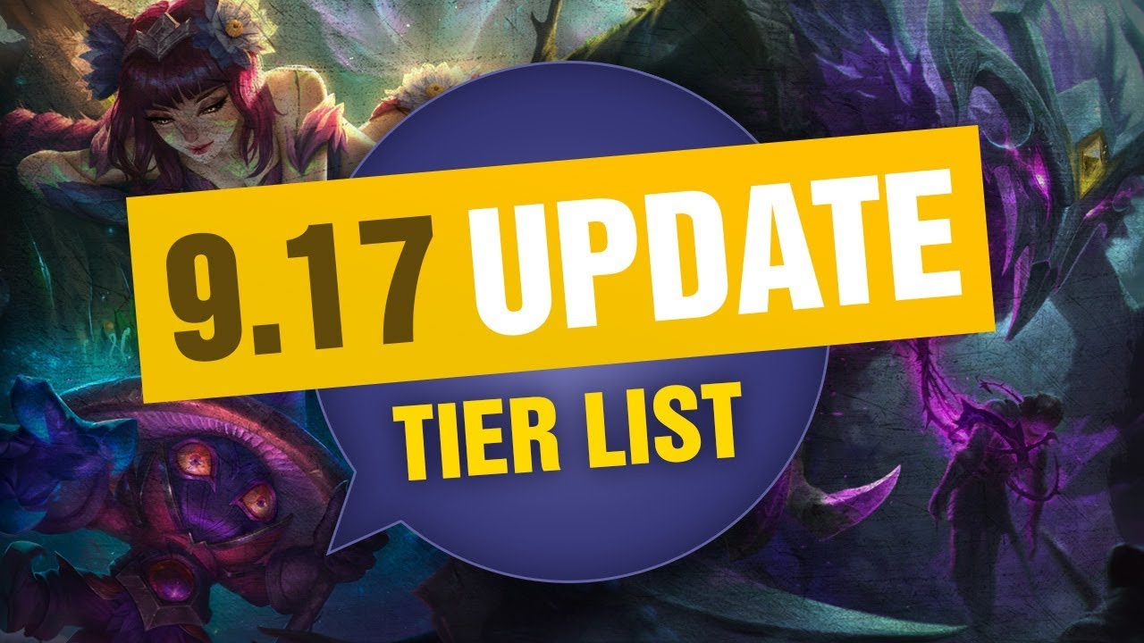 UPDATED Mobalytics Patch 9 17 Tier List New OP Champions and Q&A - League  of Legends