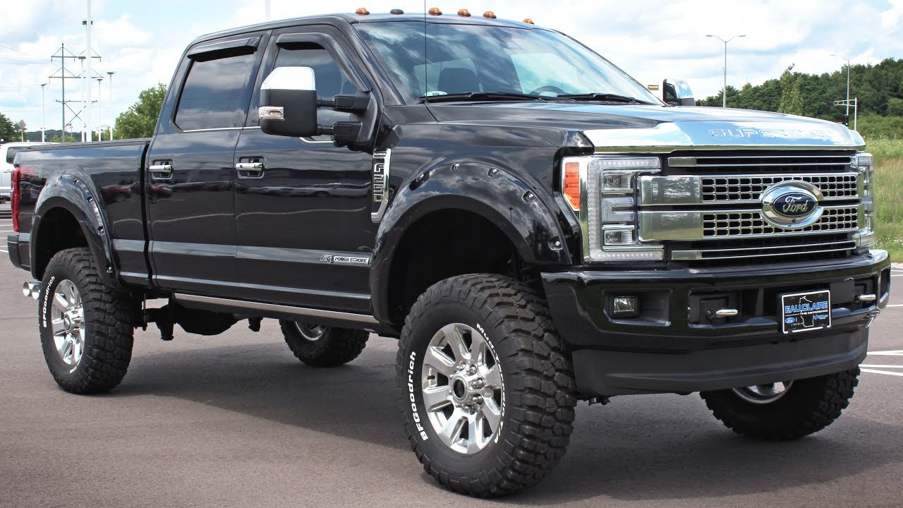 Lifted Diesel 2017 Ford F 250 Super Duty Platinum Crew Cab At Eau