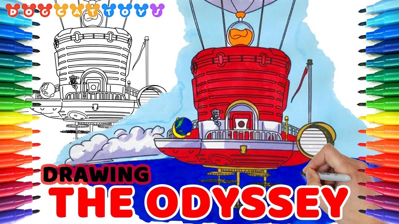 How to Draw Super Mario Odyssey the Odyssey 965