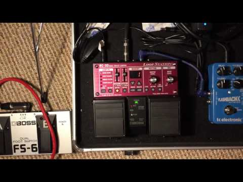 How to use the Boss RC-30 Loopstation Loop Looper Pedal and Boss FS-6 Foot Switch Demo Instructions