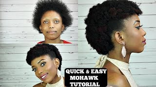 Quick Easy Mohawk Crochet Ids Tutorial Short Natural Hair
