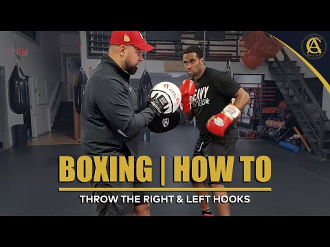 Boxing | How To Throw The Right & Left Hooks | It's ON! Boxing MMA