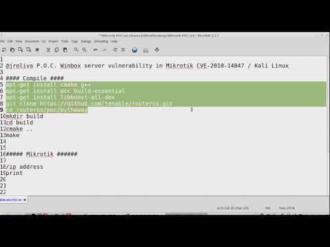 POC Mikrotik Winbox Vulnerability CVE-2018-14847 - YouTube