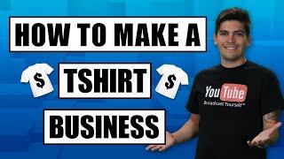 كيفية إنشاء T-Shirt الأعمال التجارية عبر الإنترنت في 1 ساعة خطوة بخطوة مع الطباعة حسب الطلب!