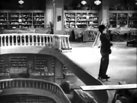 Charlie Chaplin Modern Times Roller Skating Scene   YouTube
