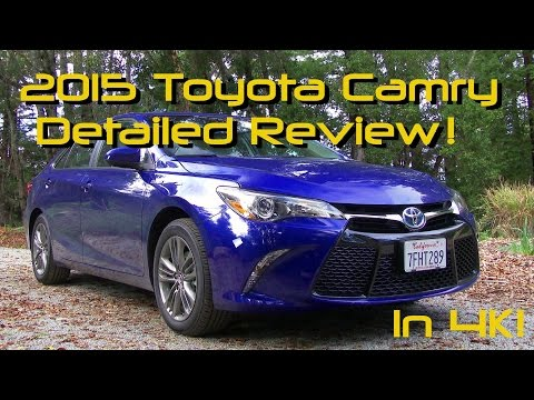 2015 Toyota Camry Detailed Review and Road Test - Hybrid SE in 4K