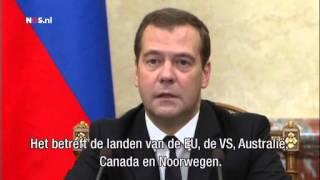 Premier Medvedev over de Russische boycot