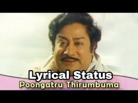 Tamil Old Song Lyrics Whatsapp Status - Poongatru Thirumbuma   Muthal Mariyathai