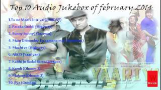 Top 10 hindi song for feb 2014