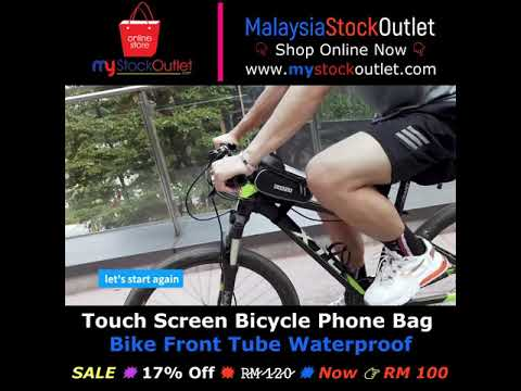 Touch Screen Bicycle Phone Bag Bike Front Tube Waterproof