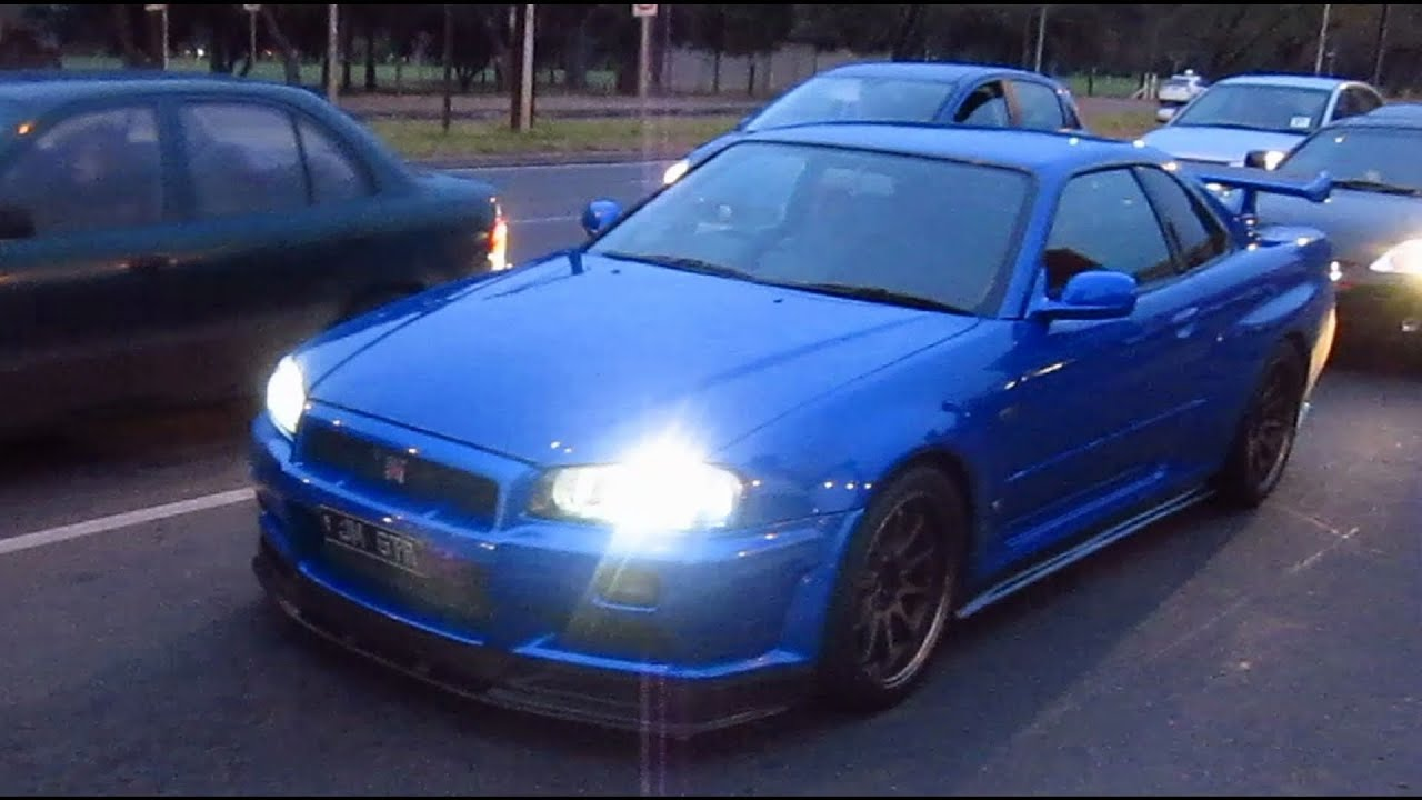 Modded R34 Gtr Skyline Brutal Acceleration Youtube