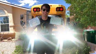 Bliauto LED headlight review Chevy 2500 Skoolie 5x7