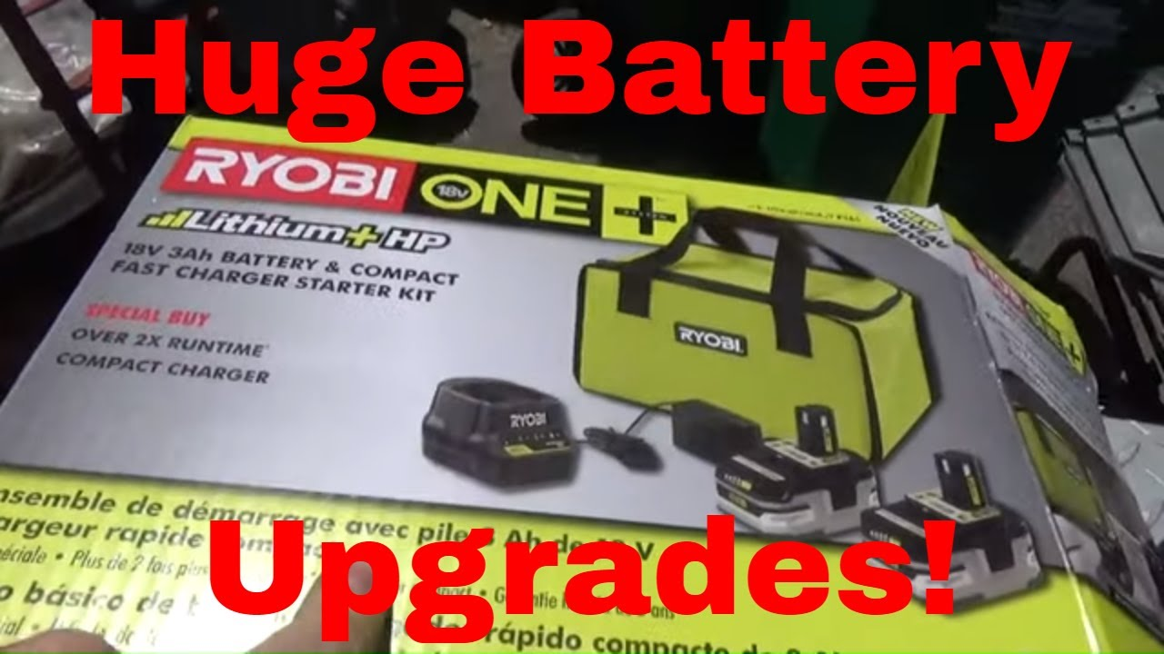 $99 Ryobi One+ 18V Li Ion 3AH Battery Upgrade, Tool Deal!