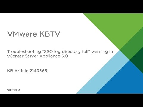 ": Troubleshooting ""/storage/log"" directory full warning in vCenter Server Appliance 6.0"