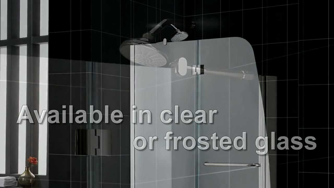 Aqua Shower door, Aqua Tub door, Hinged Showers - YouTube