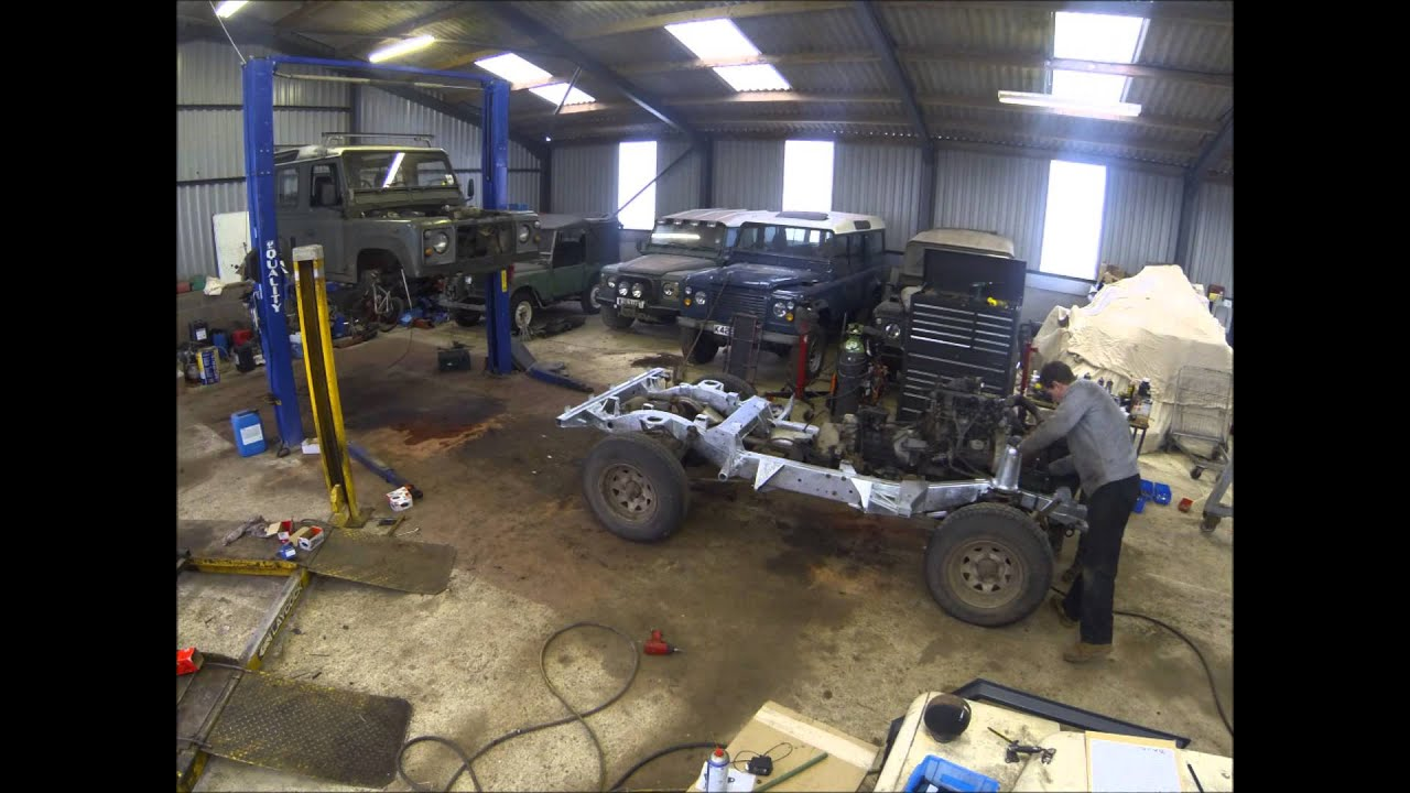 Land Rover Defender Chassis Swap Youtube