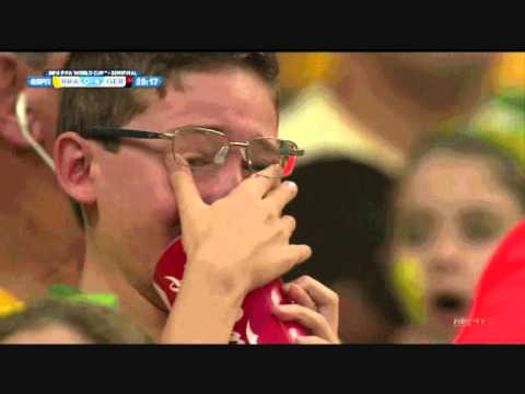 Brazil vs Germany 1 - 7 Ode to Crying Brazilian Boy World Cup Reaction