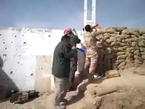 Iraqi Peshmerga using Vuvuzelas to make Troll of ISIS Islamic State Jihadist in North Iraq