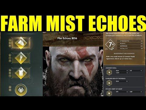 How To Get Mist Echoes Best Farming Guide (Ivaldis Workshop) Darkness & Fog  God Of War Ps4