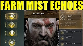 How To Get Mist Echoes Best Farming Guide (Ivaldis Workshop) Darkness & Fog  God Of War Ps4