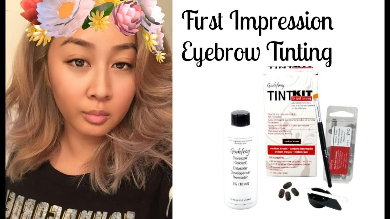 Easy Eyebrow Tinting First Impression Godefroy Professional Tint