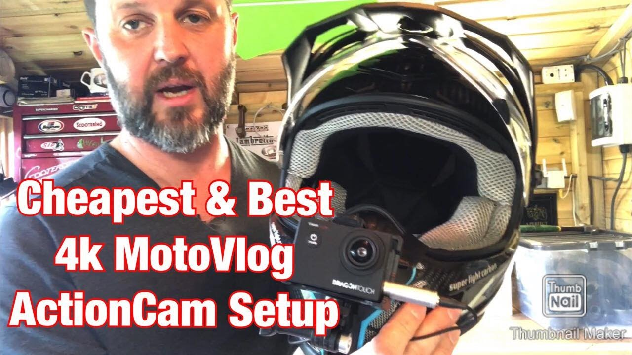 Cheapest & Best 4K MotoVlog ActionCam Setup - DragonTouch Vespa Lambretta Scooter Vlog