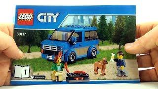 Lego City Van and Caravan 60117 - Lego Camper van Dog camper minifigures- Lego City Speed Build