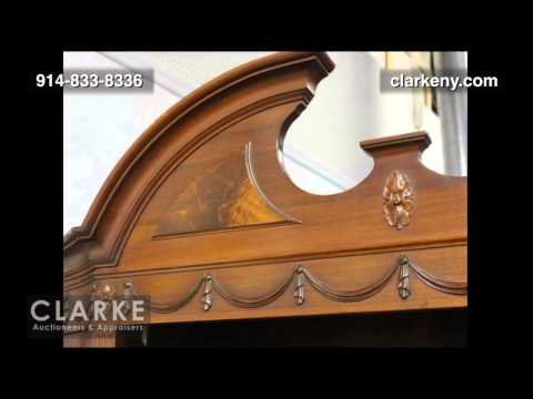 Mahogany Open Front China Cabinet | China Cabinet | Furniture | Clarke Auction Gallery