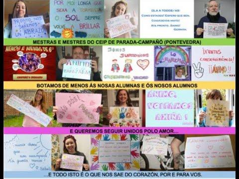 Profesores e alumnos do Ceip Parada-Campañó anímanse en tempos de pandemia