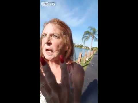 Old Drunk White Lady Being Racist Towards Hispanics In Miami