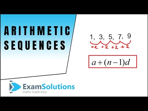 Arithmetic Progressions : Introduction : ExamSolutions