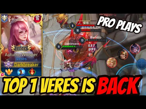 TOP 1 VERES PRO GAMEPLAY - BEST VERES BUILD | AoV | 傳說對決 | RoV | Liên Quân Mobile