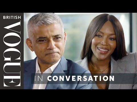 Naomi Campbell Meets… Sadiq Khan  The December 2017 Issue  British Vogue