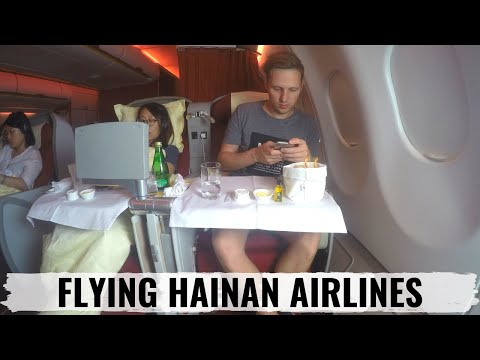 Review Hainan Airlines Business Class and Economy to Calgary and Beijing