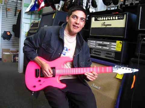 Shredding out Pink Guitars