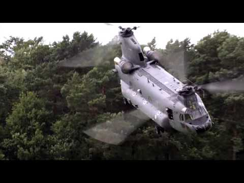 Chinook helicopter in action