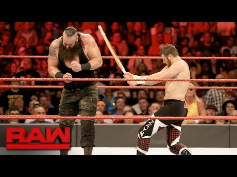 Sami Zayn vs. Braun Strowman - Last Man Standing Match: Raw, Jan. 2, 2017