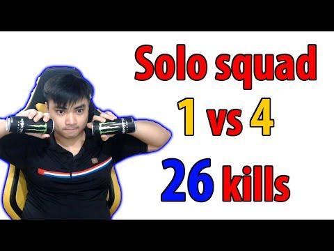 RIP113 solo squad 1 vs 4 l 26 kills