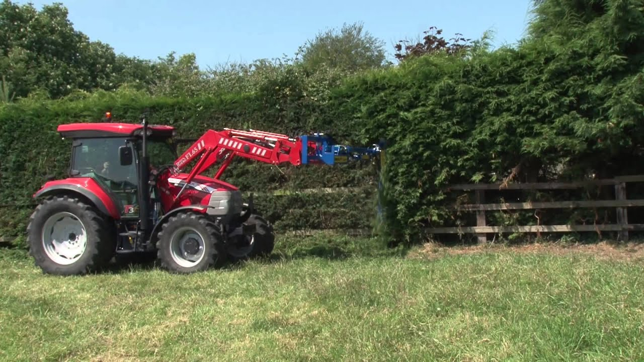 Tractor Mounted Brush Cutter : Swivil trim hedgecutter attachment for tractor front
