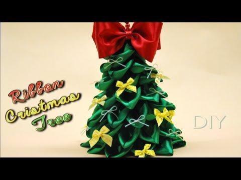 Как сделать ЕЛОЧКУ из Атласных Лент / DIY Ribbon Cristmas Tree / ✿ NataliDoma