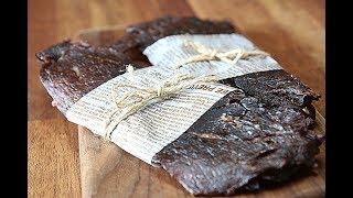 간단 소고기 육포 만드는법 Grilled beef je…