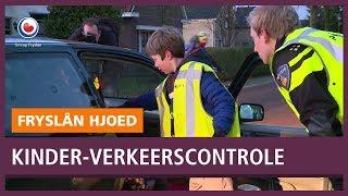 REPO: Scholieren controleren het verkeer in Boornbergum