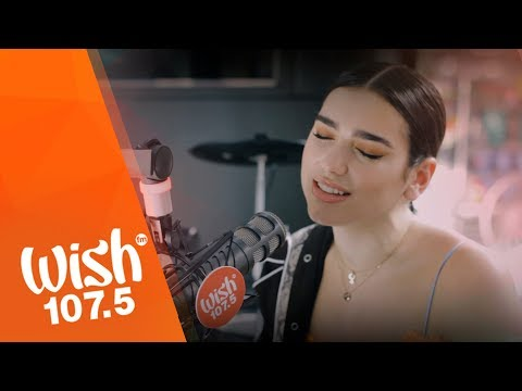 "Dua Lipa Sings ""Lost In Your Light"" LIVE On Wish 107.5 Bus"