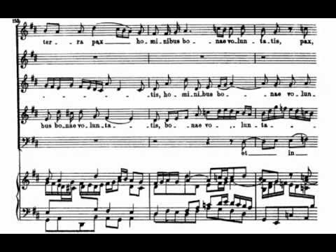 Gloria in Excelsis Deo (BWV 191 - J.S. Bach) Score Animation