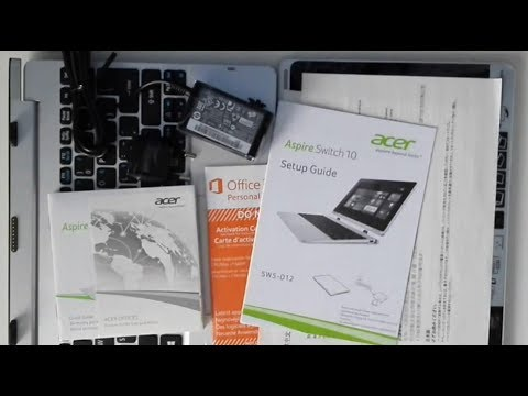 Acer Aspire Switch 10 FHD [SW5-012-15ZZ] Midnight Black - unboxing